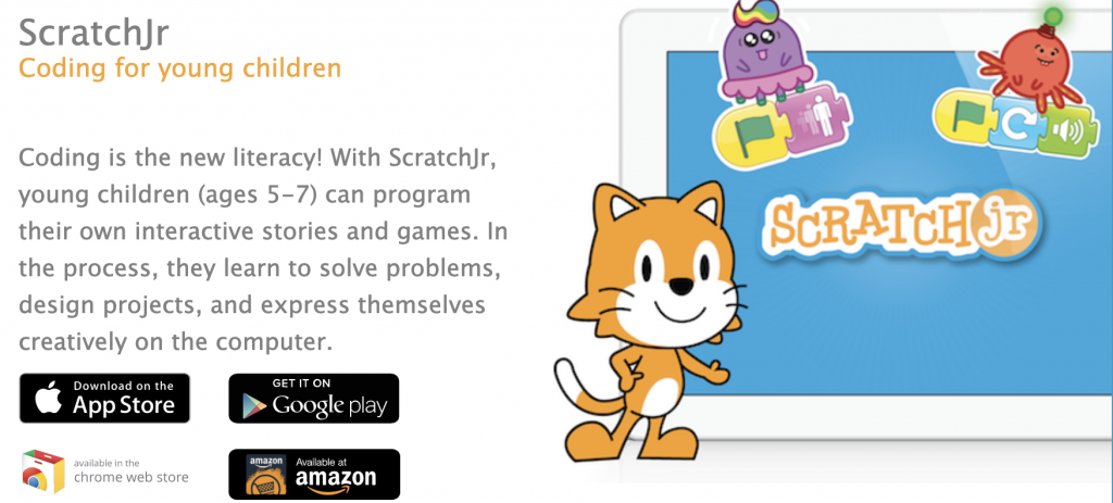 Scratch Jr. (visual programming app for younger kids)