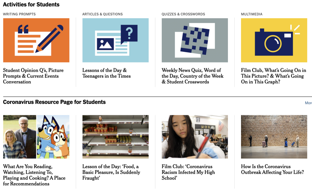 Current Affairs Resource: NYT Learning Network