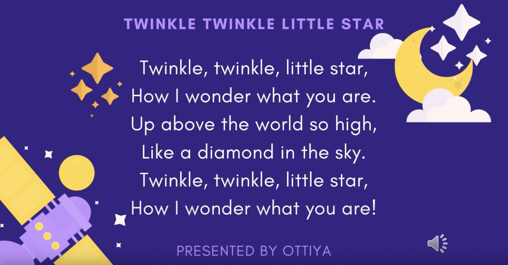 Poems for Kids read by Hannah (audio/video for early years)