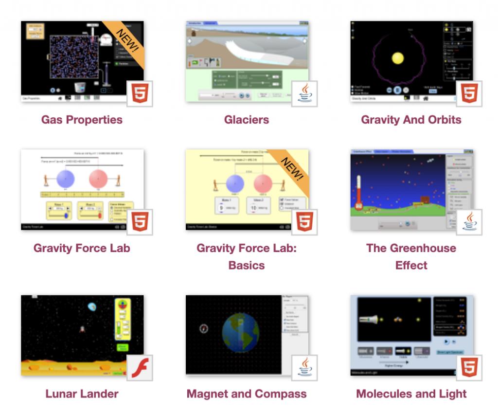 Interactive Science/Math Simulations (University of Colorado Boulder)
