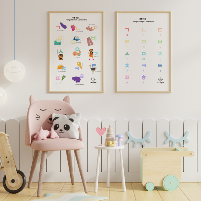 Korean-Alphabet-Poster-Hangul-Simple-Consonants_Ottiya001