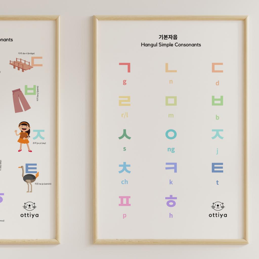 Korean Language Homeschooling Hangul Poster